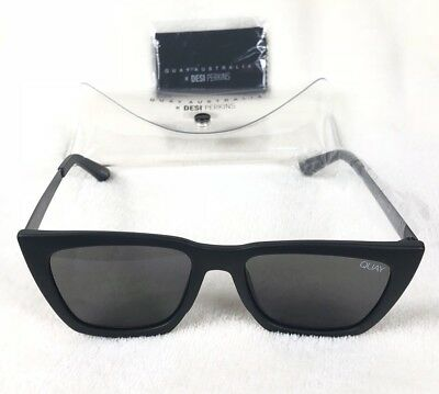 2fa6cdf990 Quay Australia Don t At Me Womens Sunglasses Black And Smoke Quay X Desi