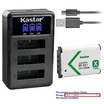 Kastar Battery Triple Charger for Sony NP-BX1 & Sony Cyber-shot DSC-HX80 Camera