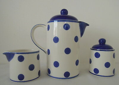 Whittard of Chelsea Hand Painted Clipper for One Teapot Lidded Sugar & Milk Jug