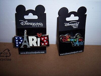 Disneyland Paris Pins Red White And Blue Eiffel Tower Jeweled Mickey Head Oncard