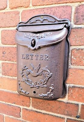 Vintage Style wall mounted Outdoor cast iron post box letters mailbox Garden