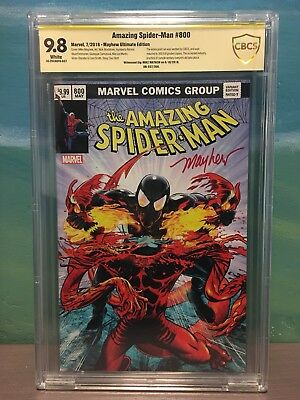 Amazing Spider-Man #800 CBCS SS 9.8 Ultimate Variant - Mayhew Signed #37/300