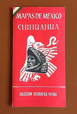 Vintage Map of Chihuahua/Mexico 1959