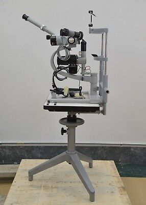 Vintage Carl Zeiss Slit Lamp w/ Teaching Observation Tube Optomology (15798)