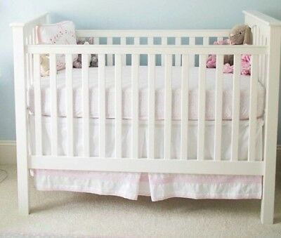 Pottery barn kids embroidered Crib Skirt