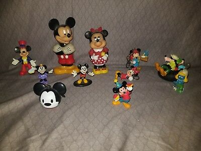 Vintage Lot Of Mickey And Minnie Mouse Figures