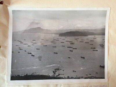 1944 WWII Allied War Ships Hollandia Prepare For Philippines Invasion