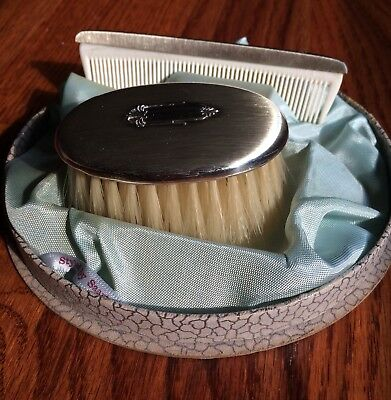 Saart Brothers Sterling Silver .925 Baby Child Hair Brush & Comb Vanity Set