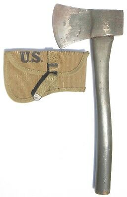 Orig Wwii 1944 Us Army Ax / Hatchet American W/ Mint Perfect 1942 Khaki Cover