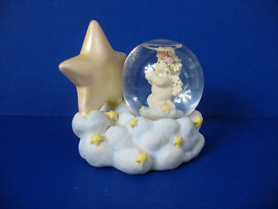 Dreamsicles Westland Snow Globe Cherub & Star on Cloud Cast Art Industries Inc.