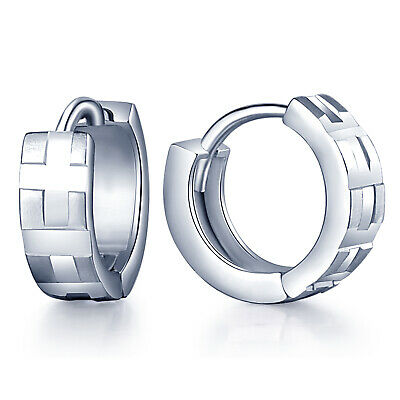 Women's Girls Hinged 12mm Small Hoop Huggie 925 Sterling Silver Creole Earrings
