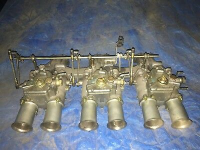 Holden 9 Port Red Line Manifold With Triple 48 Weber's Complete Been  On Torana