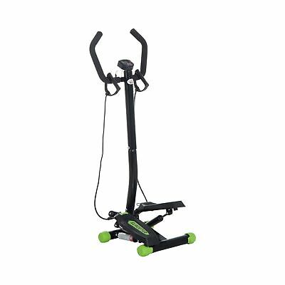 HOMCOM Mini Stepper with Handle Workout Fitness Machine Pulling Rope Sport ... .