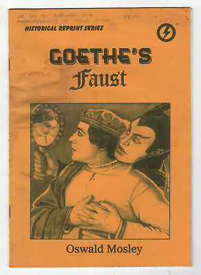Goethe's 'Faust'; Essay by Oswald Mosely-Vintage Wicca Occult Book-Satanic Bible