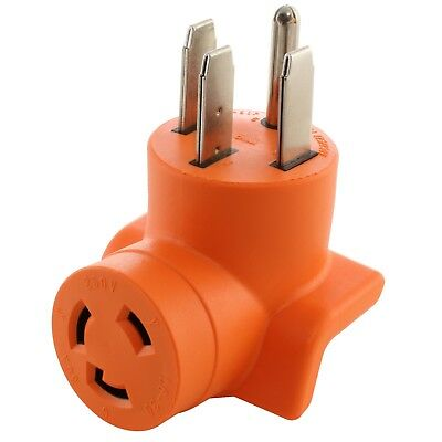 4-Prong Electric Range Outlet Adapter AC WORKS™ NEMA 14-50P to NEMA L6-30R