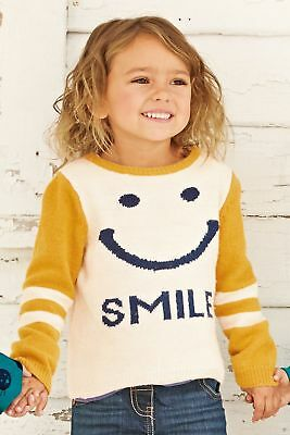 Next Smiley Pullover Pulli Wolle Strickpullover Sweatshirt Knit Shirt Gr 74 80