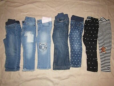 Toddler Girl Jeans 2T Old Navy Cat and Jack Lot of 6 + 2 shirts and leggings
