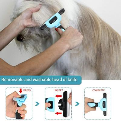 Pet Grooming Brush Deshedding Tool Effectively Reduces Shedding For Dogs Cats