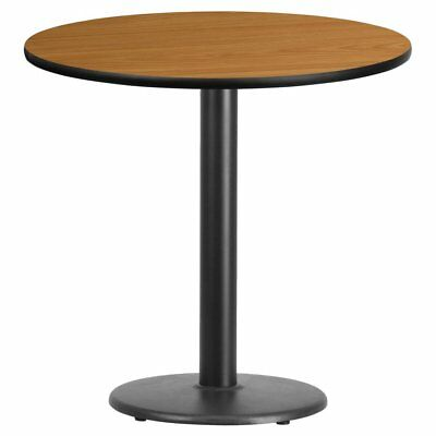 Flash Furniture 30 in. Round Laminate Dining Table with 18 in. Round Base