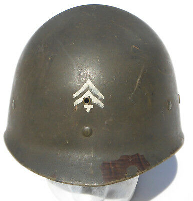 Orig Excellent 1942-1943 Hood Rubber Co M1 Helmet Liner W/painted T-5 Insignia