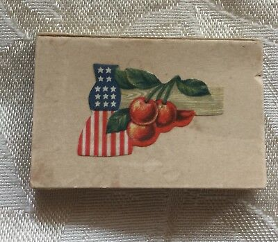20 Vintage Patriotic Flag Cherry Hatchet Gummed Seals Dennison in Original Box
