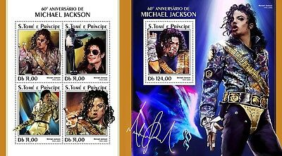 Z08 IMPERF ST18313ab Sao Tome and Principe 2018 Michael Jackson MNH ** Postfrisc