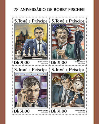 Z08 IMPERF ST18316a Sao Tome and Principe 2018 Bobby Fisher MNH ** Postfrisch