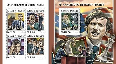 Z08 IMPERF ST18316ab Sao Tome and Principe 2018 Bobby Fisher MNH ** Postfrisch S