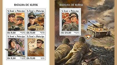 Z08 IMPERF ST18319ab Sao Tome and Principe 2018 Battle of Kursk MNH ** Postfrisc
