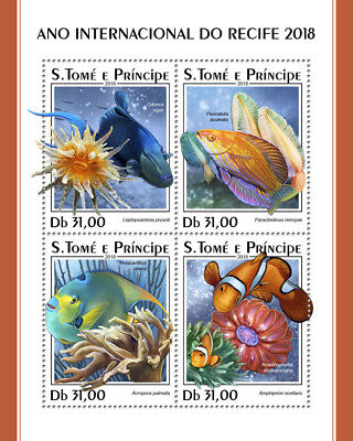 Z08 IMPERF ST18320a Sao Tome and Principe 2018 Year of the Reef MNH ** Postfrisc