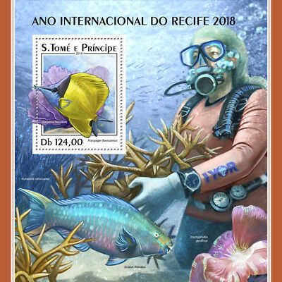 Z08 IMPERF ST18320b Sao Tome and Principe 2018 Year of the Reef MNH ** Postfrisc