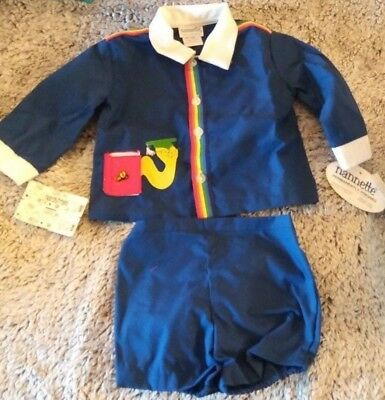 Vintage Baby Boy Outfit LARGE by Nannette NWT ;1970'S BABY CLOTHES