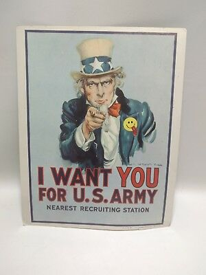 1968 I Want You For US Army Recruiting Poster, Original