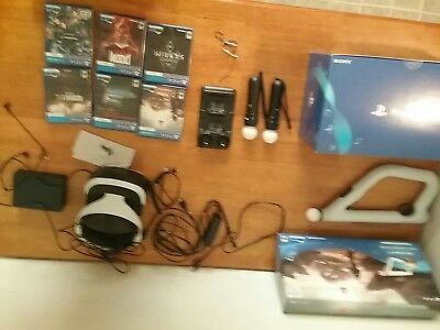 PlayStation vr (cuh-zvr2)bundle with 5 games,charger,2 move controllers,camera
