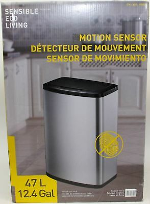 Sensible Eco Living Stainless Steel Trash Can with Motion Sensor, 80 L