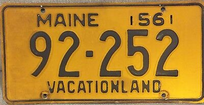 1956 Maine License Plate tag