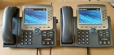 Lot of 2 Cisco CP-7975G IP SCCP 8-5-3  new Face Plate New Touch Screen LCD.
