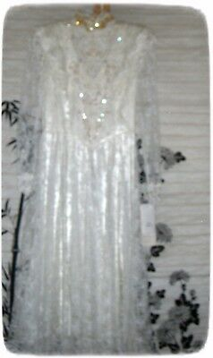 JESSICA MCCLINTOCK Dress Size 6 ~Ivory~ Vintage Wedding/Formal  NWT