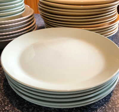 "Retro Johnson  ""Green Cloud"" Entree Plates"