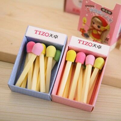 Awarding 8 Pcs/Set Novelty Cute Pencil Gift Eraser Stationery Rubber Match