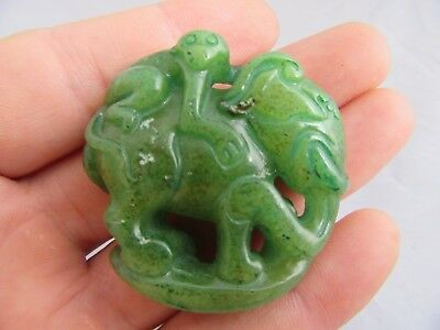 Old Chinese antique Jade hand-carved People Pendants  E24