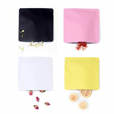 New Flat Open Top Matte Mylar Bags Pouches in Various Colors 15x15cm (5.9x5.9in)