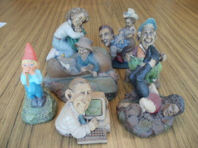 Lot of 7 Tom Clark Gnomes, Mom,Dad's Home,Lucky Charm,Walt,Goodfoot,Ollie,more