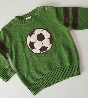 New Gymboree Boy Pullover Spring Sweater Size 6-12 Months Soccer Green
