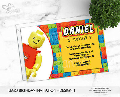 lego birthday invitation personalized digital printable file