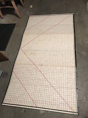 Vintage Clothing Material Sewing Measuring Board 6'x3'