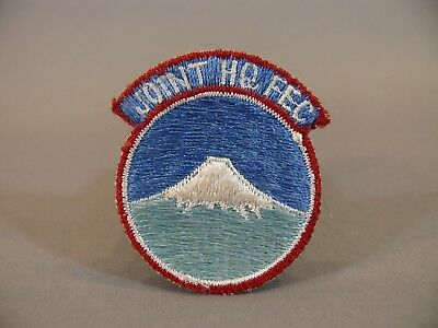 Joint HQ FEC Patch Headquarters Far East Command Theater Made Signed on Back