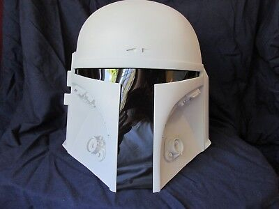 "Star Wars Universe Mandalorian Bounty Hunter ""DEFENDER  Helmet Kit Prop Cosplay"