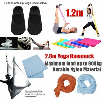 Aerial Yoga Hammock Yoga Belts Elastic Yoga Pilates Rubber Stretch Yoga Socks UY