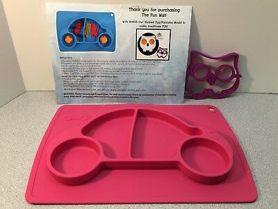 Jokoha Car Shaped Fun Mat - Placemat + Plate In One & Owl Egg/Pancake Mold (9)